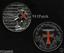 Put On The Whole Armor Of God Spartan Crusader CHALLENGE COIN 1-3/4""