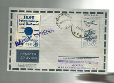 1958 Syrena Poland Balloon Cover Airmail
