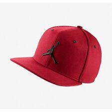 Nike Air Jordan Jumpman Snapback Cap Hat Gym Red Black (# 619360-689)