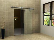 Glas Schiebetür CLEAR 102,5 x 205 cm Klarglas Raumteiler Raum Trenner