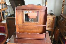 Antique Wooden Magazine Newspaper Menu Wall Rack