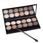 12 Colors Matte & Shimmer Eyeshadow Palette with brush Natural & Smoky makeup