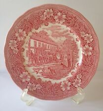 Coaching Taverns Pink Royal Tudor Ware STAFFORDSHIRE ENGLAND Dinner Plate