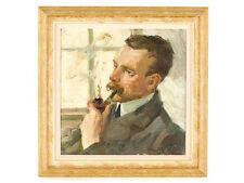 c1920 Newlyn School Charles Walter Simpson Oil Self Portrait