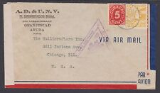 Netherlands Antilles Sc 131, C8 on 1942 Censored Cover, British Triangle Censor