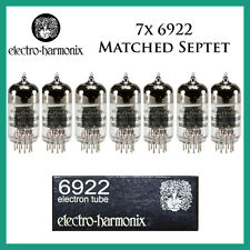 New 7x Electro Harmonix 6922 / 6DJ8 | Matched Septet / Seven Tubes | Free Ship