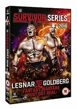WWE Survivor Series 2016 [DVD] *NEU* Region Code 2 Goldberg vs. Brock Lesnar Raw