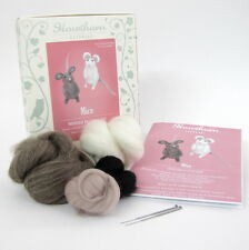 Needle Felting Kit - Make Own Little Mice - British Wool Design Craft Gift Mouse