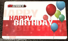 EB Games / Gamestop CANADA HAPPY BIRTHDAY collectible Gift Card(NCV)