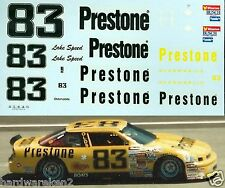 NASCAR DECAL #83 PRESTONE 1990 OLDSMOBILE - LAKE SPEED - 1/24 Scale