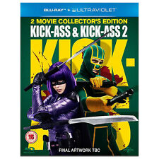 KICK-ASS 1 & 2 DOUBLE PACK BLU-RAY 2-DISC SET REGION-FREE BRAND NEW SEALED