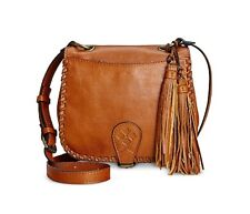 Patricia Nash Women's Karisa Small Crossbody Saddle Bag P03884 Tan