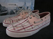 SPERRY Top Sider Bahama Raspberry Loafer Slip On Boat Shoes US 7.5 EUR 38 NWB