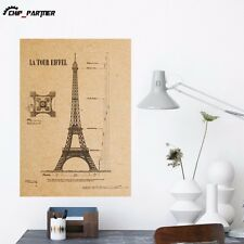 Tower Wall Stickers Retro Wall Poster Bedroom Decal Home Decoration Removable