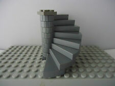 LEGO DARK BLUISH  SPIRAL STAIRCASE (8 STEPS COMPLETE ASSEMBLY) GREY TOP PLATE
