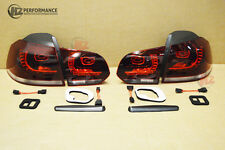 VW GOLF MK6 R20 TYPE LED REAR LIGHTS | SMOKE TINT | GTD TDI