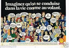 Publicité advertising 1980 (2 pages) Station service Shell par lauzier