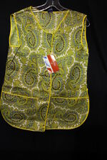 """NewVINTAGE Yellow Paisley """"MICKEY"""" House Dress By M. Lowenstein & Sons Inc Sz M"""