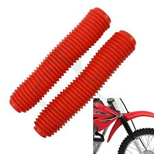 Red Universal Off-Road Fork Gaiters Gaitors For KAWASAKI KX125KD X200 KDX250 25