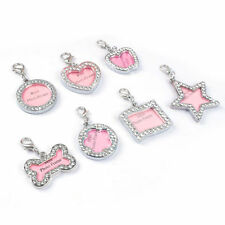 1PC Bone Shape Pet ID Personalized Puppy Pet Dog Cat ID Name Crystal Charm Tags
