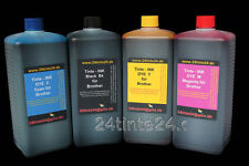 4x 1 L Litros Tinta para CISS Brother MFC DCP FAX LC 4L LC123 LC125 LC127 LC1220