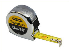 STANLEY STA033553 5m Powerlock Tape Measure 16ft with 3 Rivets 0-33-553 New