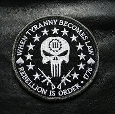 THREE 3%   PERCENTER REBELLION  TYRANNY TACTICAL MORALE  PATCH
