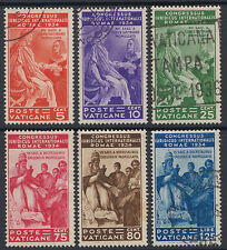 Vatican City 1935 Juridical Congress set M or Used SG 41-6