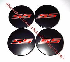 19351758 Black GM Wheel Center Caps w/ Red SS Logo Set of 4 2016-2017 Camaro GM