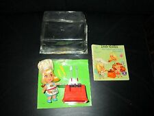 Vintage Liddle Kiddles Sizzly Friddle BBQ Complete Little Doll Chefs Hat Book