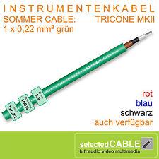 SOMMER CABLE 1m SC TRICONE MKII OFC grün Gitarren- Instrumentenkabel   300-0024