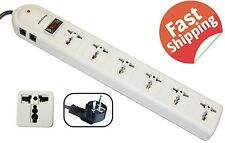 Appliance Extension Cord Power Strip Flat Plug Multi Outlet Long Electric PC 6ft