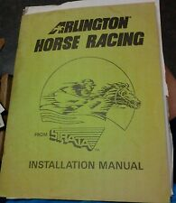 Strata ARLINGTON HORSE RACING Arcade Video Game Manual- laser disc game used