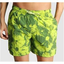 NEW CALVIN KLEIN GREEN FLORAL BEACH POOL SWIM SURF SHORTS MEDIUM 32/34 WAIST