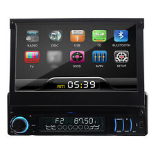 "Single 1 Din In dash 7""Touch Screen Car Stereo Audio DVD Player Ipod Bluetooth"