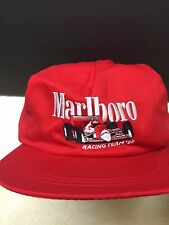NEW VINTAGE MARLBORO Racing Team 92 Hat Cap - Red Snapback Penske Racing