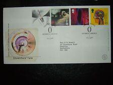 1999 inventores cuento de Royal Mail FDC & Greenwich Shs Cv £ 14