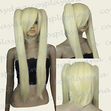 "26"" Heath stylable Light Golden Blonde Cosplay Wig with Clip-on Ponytails 6LGB"