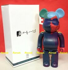 Medicom 2015 Be@rbrick Andy Warhol 400% Silk Screen ver. Bearbrick 1pc