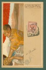 MATALONI GIOVANNI. IRIS di Mascagni. Cartolina disegnata nel 1898, viaggiata..