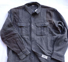 Ralph Lauren RRL Double Rl PIONEER work WOOL SHIRT-JACKET TAGLIA S DARK GREY