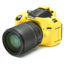 Camera silicone cover for Nikon D5200+ LCD Screen Protector Yellow