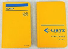 2 Unused ENGINEER LEVEL BOOKS No 8152-55 Lietz SOKKIA Water Resistant Surface