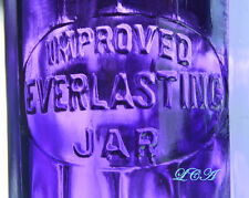 Western EVERLASTING fruit jar dated 1905 translucent PURPLE COLORED quart antiqu