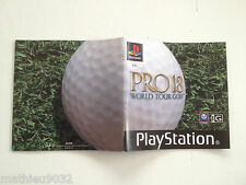 Notice/manuel/mode d'emploi Pro 18 world tour golf SONY Playstation 1 PAL FR