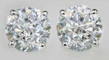3 ct tw Screwback Earrings Top CZ Moissanite Simulant Sterling Sterling .925