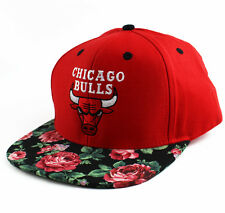 Chicago Bulls Custom Rose Snapback Hat Cap mitchell ness obey NEW