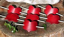 HANDMADE LEATHER LOVE HEART HAIR BARRETTE / PIN / CLIP / SLIDE - SMALLER SIZE