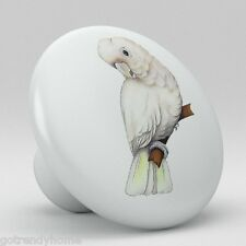 Baby Tropical Parrot Cockatoo Bird Ceramic Knobs Pull Kitchen Drawer Cabinet 393