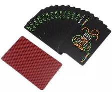 BLACK GLOW IN DARK DESIGN POKER PLAYING CARD